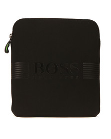 Boss Green Mens Black Pixel N_S Zip Bag