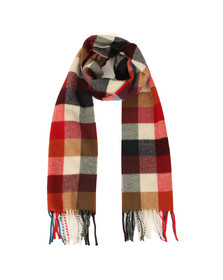 Gant Mens Red Multicheck Scarf