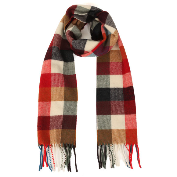 Gant Mens Red Multicheck Scarf main image