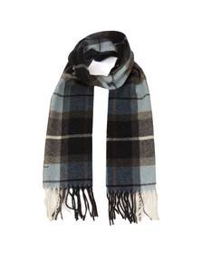 Gant Mens Blue Check Lambswool Scarf