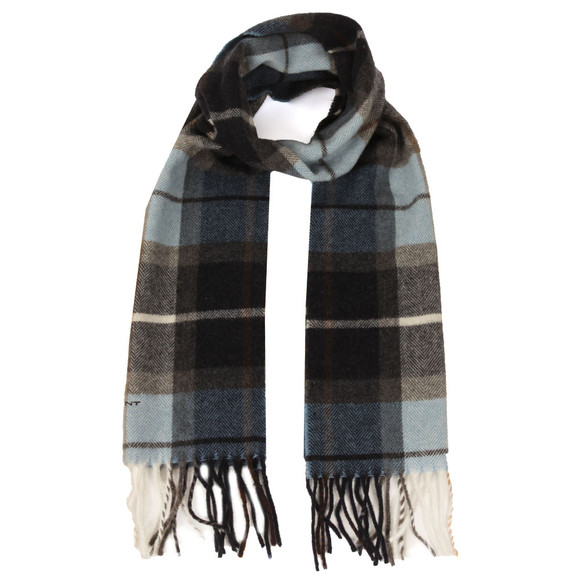 Gant Mens Blue Check Lambswool Scarf main image