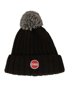 Colmar Mens Black Bobble Hat
