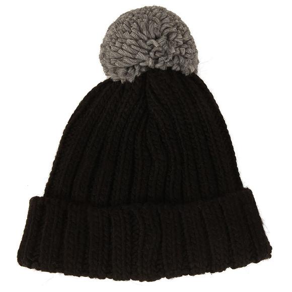 Colmar Mens Black Bobble Hat main image