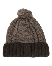 Diesel Mens Grey K-Teen Knitted Hat