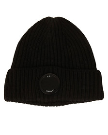 CP Company Mens Black Lens Knitted Hat