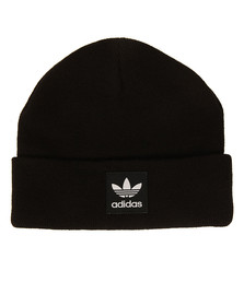 Adidas Originals Mens Black Logo Beanie