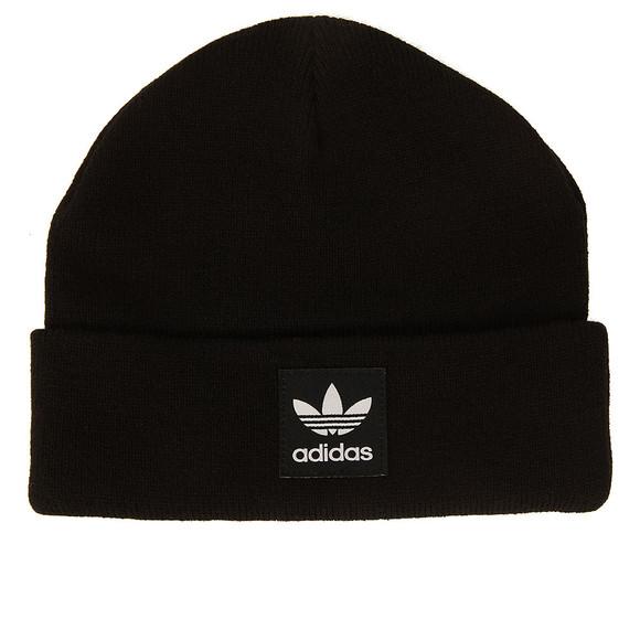 Adidas Originals Mens Black Logo Beanie main image