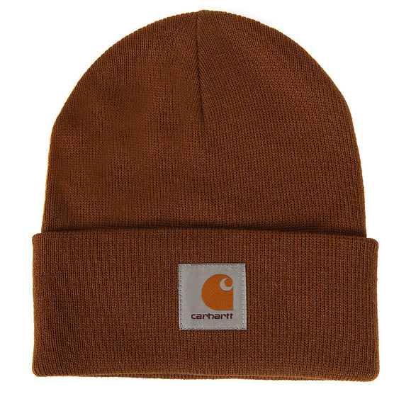 Carhartt Mens Brown Short Watch Hat main image