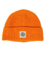 Knitted Square Badge Hat