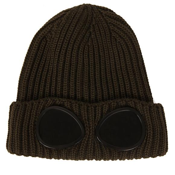 C.P. Company Undersixteen Boys Green Knitted Goggle Hat main image