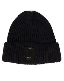CP Company Mens Blue Lens Knitted Hat