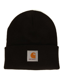 Carhartt Mens Black Short Watch Hat