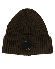 CP Company Mens Green Lens Knitted Hat