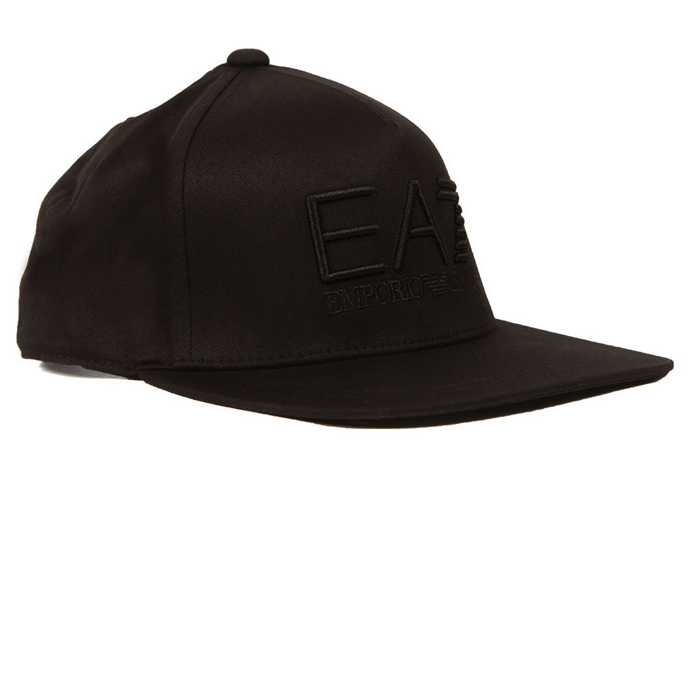 EA7 Emporio Armani Mens Black Train Visibility Rapper Cap 4f531ff7ada1