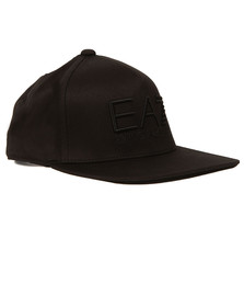 EA7 Emporio Armani Mens Black Train Visibility Rapper Cap
