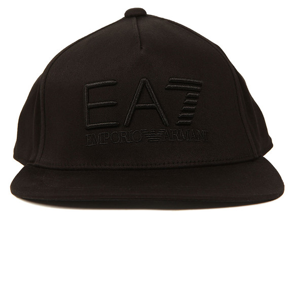 EA7 Emporio Armani Mens Black Train Visibility Rapper Cap main image