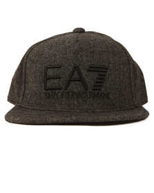 EA7 Emporio Armani Mens Grey Train Visibility Rapper Cap