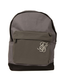 Sik Silk Mens Grey Reflective Pouch Backpack
