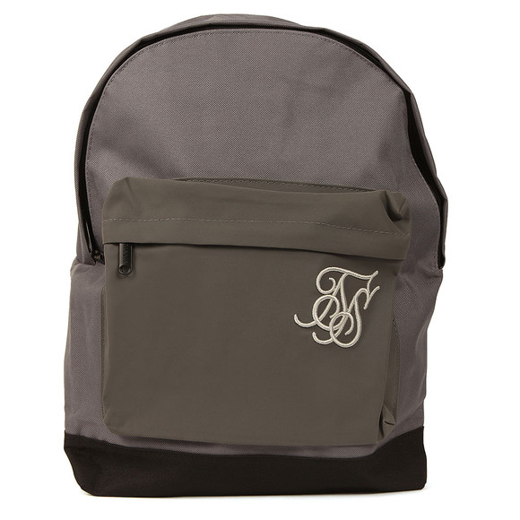 Sik Silk Mens Grey Reflective Pouch Backpack main image