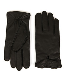 Boss Green Mens Black Kouper Leather Gloves