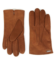 Boss Orange Mens Brown Gans 3 Leather Gloves