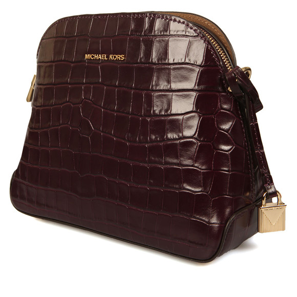 Michael Kors Womens Red Mercer Mid Dome Messenger Bag main image