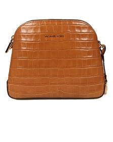 Michael Kors Womens Brown Mercer Mid Dome Messenger Bag