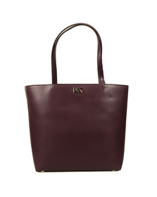 Michael Kors Womens Red Mott Mid Tote Bag