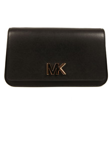 Michael Kors Womens Black Mott Large Clutch