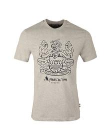 Aquascutum Mens Grey Aldis Crest Front T-Shirt