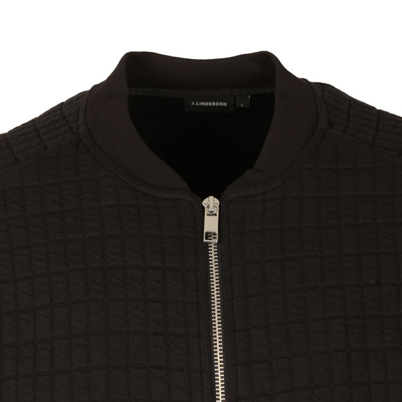 J.Lindeberg Mens Black Crane Quilt Sweat  main image