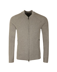 J.Lindeberg Mens Grey Trust Zip Compact Cotton Bomber