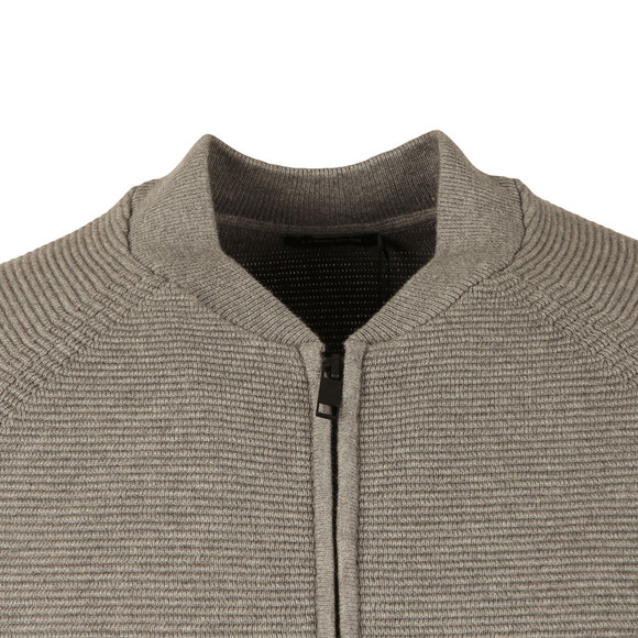 J.Lindeberg Mens Grey Trust Zip Compact Cotton Bomber main image