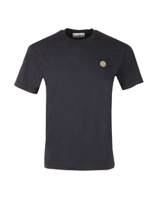 Stone Island Mens Blue Square Logo Crew Neck T-Shirt