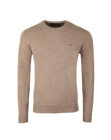 Hackett Mens Brown Lambswool Crew Jumper