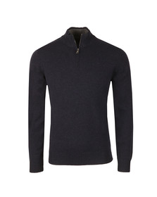 Hackett Mens Blue Half Zip Knit
