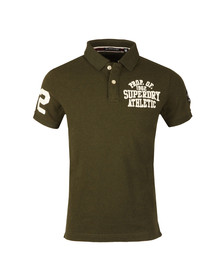 Superdry Mens Green Classic SS Superstate Polo