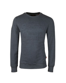 Superdry Mens Blue Premium Goods Crew Sweat
