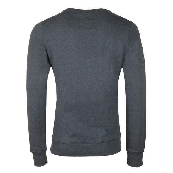 Superdry Mens Blue Premium Goods Crew Sweat main image
