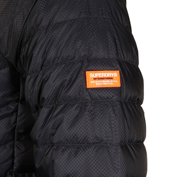 Superdry Mens Blue Micro Quilt Down Hooded Jacket main image
