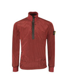 Stone Island Mens Red Nylon Metal Half Zip Jacket