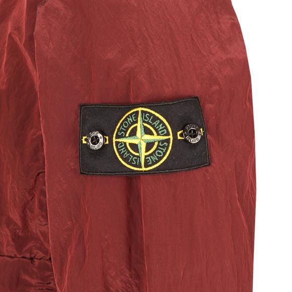 Stone Island Mens Red Nylon Metal Half Zip Jacket main image