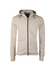 Boss Mens Grey Arm Logo Full Zip Hooded Sweat