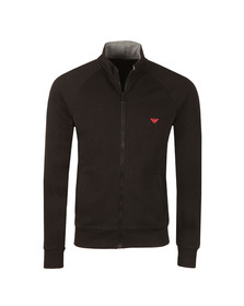 Emporio Armani Mens Black Full Zip Sweat