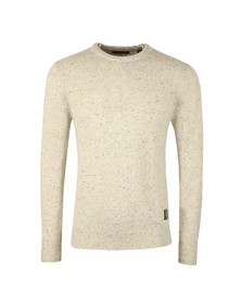 Scotch & Soda Mens Beige Jumper With Coloured Neps