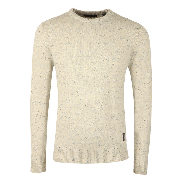 Scotch & Soda Mens Beige Jumper With Coloured Neps main image