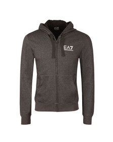 EA7 Emporio Armani Mens Grey Small Logo Full zip Hoody