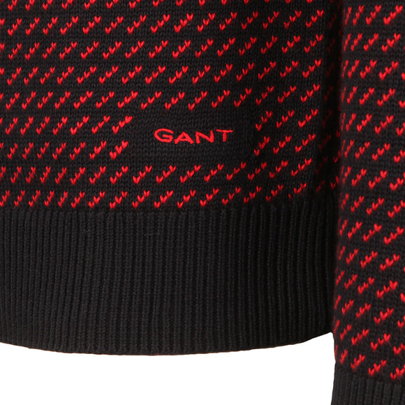 Gant Mens Blue Nordic Pattern Crew Jumper main image
