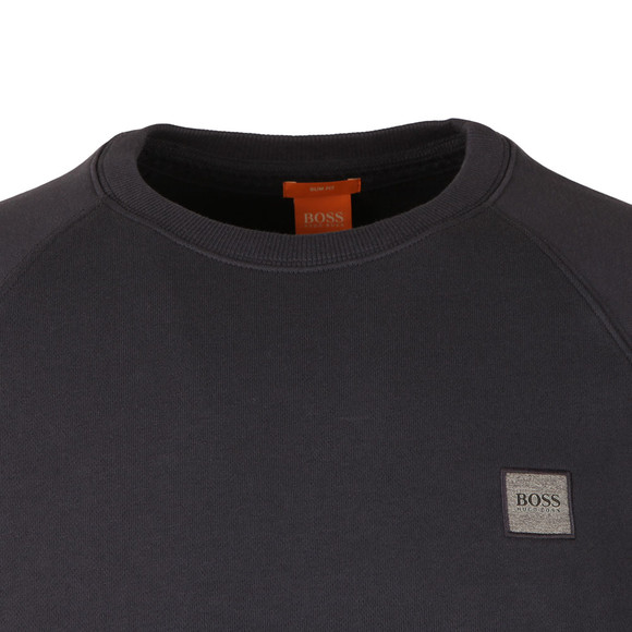 Boss Orange Mens Blue Wheel Crew Neck Sweatshirt main image
