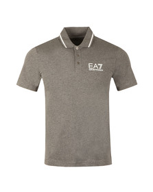 EA7 Emporio Armani Mens Grey Tipped Polo Shirt